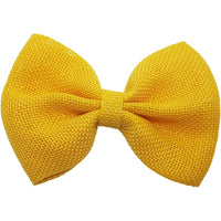 "4"", Burlap, Bow, Yellow"