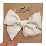 Little Lady Cotton Vanilla Hair Bow