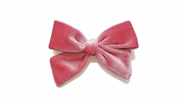silk white Pinwheel Hairbow Oversize bow, school girl bow, blush hair Bow, pink hairbow
