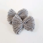 2 Pack Crochet Knit Hair Bow Clips