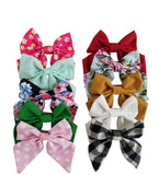 "3"" Handmade Fabric Hair Bows"