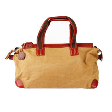 "Classic Canvas Leather Luggage Bag Travel Tote- ""The Escobar"""