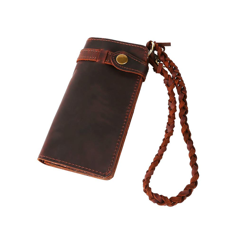 Leather Wallet with Wrist Braid -