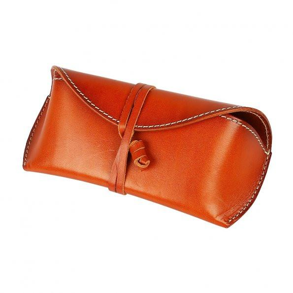 Travables Classic Leather Sunglasses Hard Eyeglass Case Holder