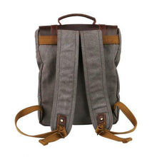 "Classic Canvas Leather Travel Backpack - ""The Protege"""