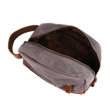 "Classic Canvas Leather Toiletry Bag - ""The Ditty"""