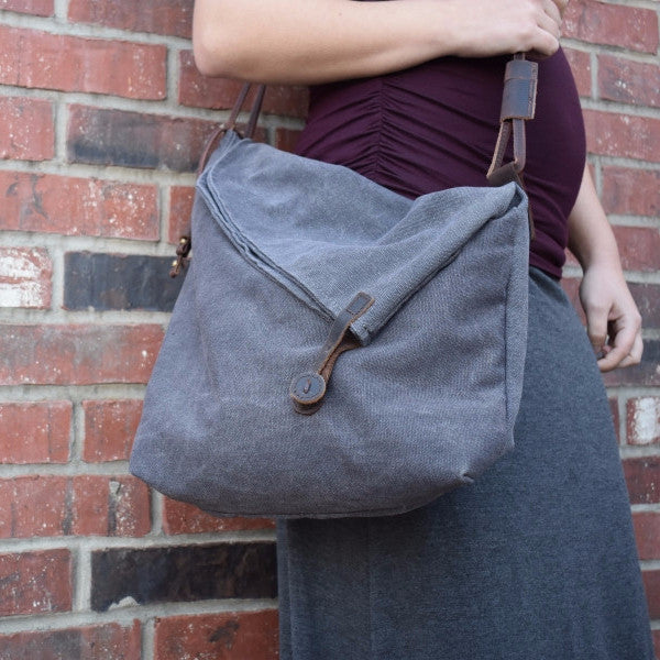 Canvas Cross Body Shoulder Bag -