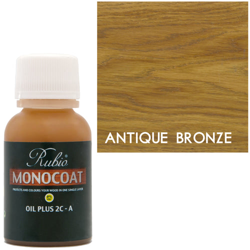 Rubio Monocoat Oil Plus 2C-A Sample Wood Stain Antique Bronze