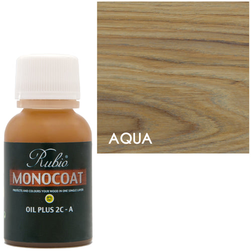 Rubio Monocoat Oil Plus 2C-A Sample Wood Stain Aqua