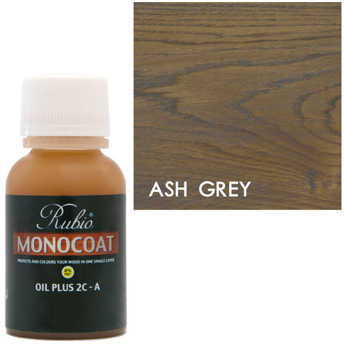 Rubio Monocoat Oil Plus 2C-A Sample Wood Stain Ash Grey