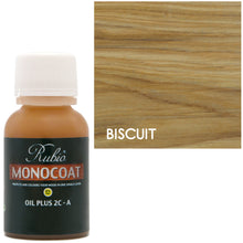 Rubio Monocoat Oil Plus 2C-A Sample Wood Stain Biscuit