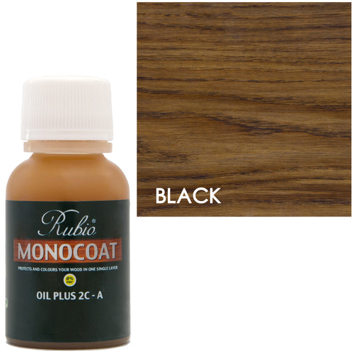 Rubio Monocoat Oil Plus 2C-A Sample Black 0% VOC