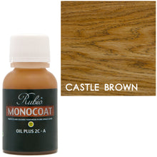 Rubio Monocoat Oil Plus 2C-A Sample Wood Stain Castle Brown
