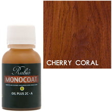 Rubio Monocoat Oil Plus 2C-A Sample Wood Stain Cherry Coral