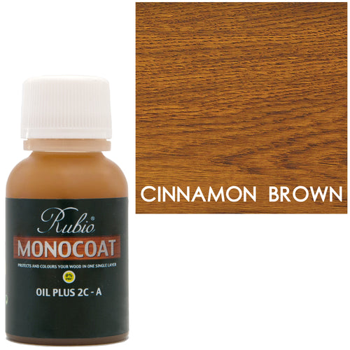 Rubio Monocoat Oil Plus 2C-A Sample Wood Stain Cinnamon Brown