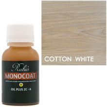 Rubio Monocoat Oil Plus 2C-A Sample Wood Stain Cotton White