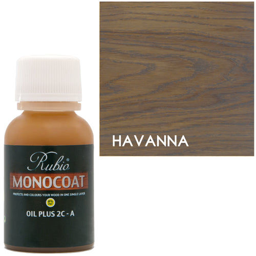Rubio Monocoat Oil Plus 2C-A Sample Wood Stain Havana