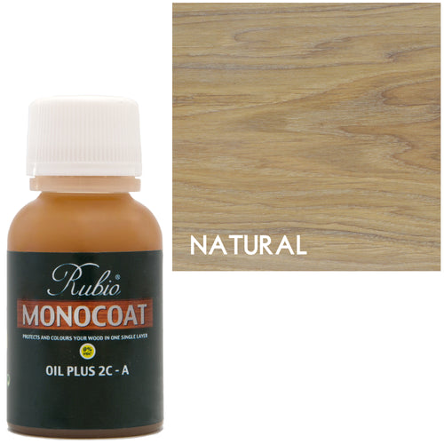Rubio Monocoat Oil Plus 2C-A Sample Wood Stain Natural