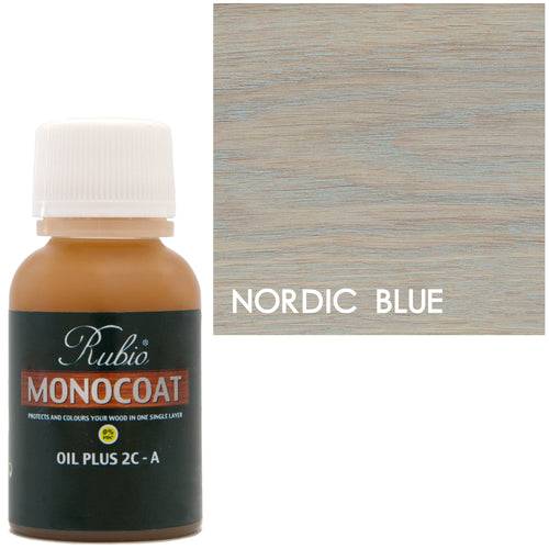 Rubio Monocoat Oil Plus 2C-A Sample Wood Stain Nordic Blue
