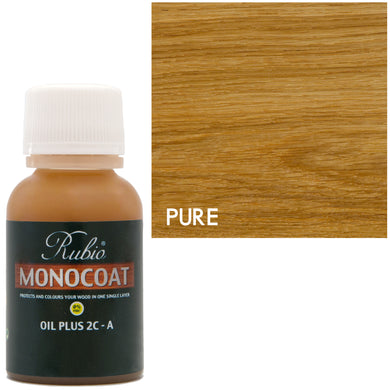 Rubio Monocoat Oil Plus 2C-A Sample Wood Stain Pure