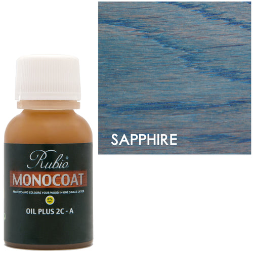 Rubio Monocoat Oil Plus 2C-A Sample Wood Stain Sapphire