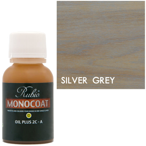 Rubio Monocoat Oil Plus 2C-A Sample Wood Stain Silver Grey