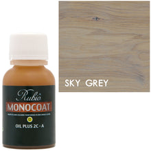 Rubio Monocoat Oil Plus 2C-A Sample Wood Stain Sky Grey