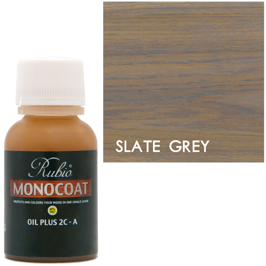 Rubio Monocoat Oil Plus 2C-A Sample Wood Stain Slate Grey