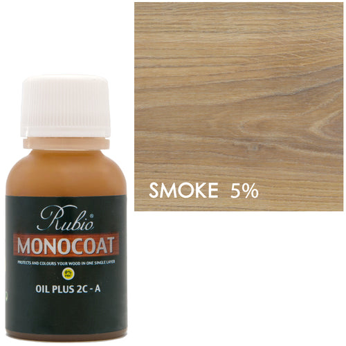 Rubio Monocoat Oil Plus 2C-A Sample Wood Stain Smoke 5%