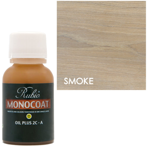 Rubio Monocoat Oil Plus 2C-A Sample Wood Stain Smoke