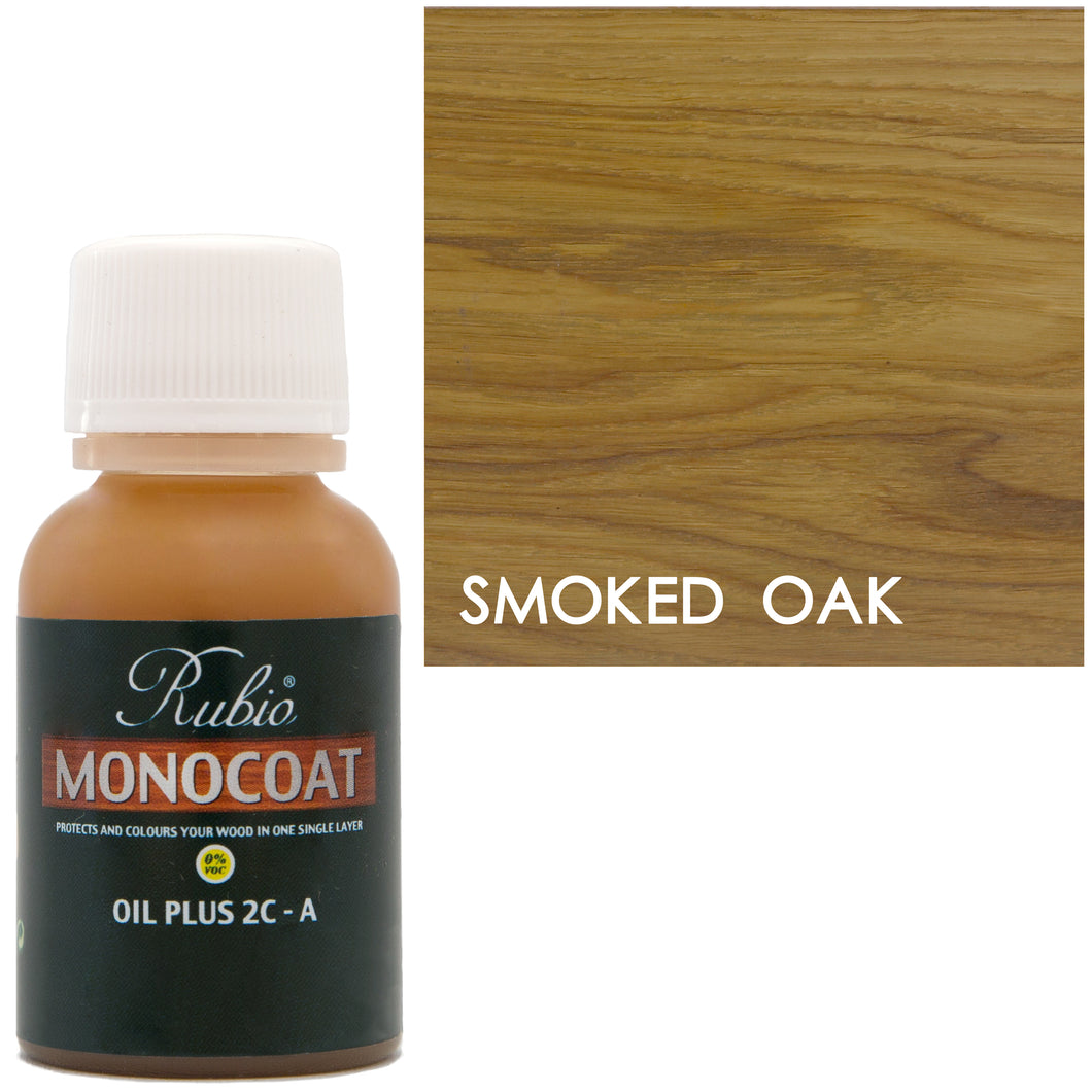 Rubio Monocoat Oil Plus 2C-A Sample Wood Stain Smoked Oak