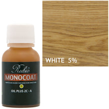 Rubio Monocoat Oil Plus 2C-A Sample Wood Stain White 5%