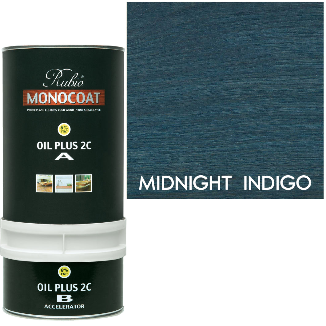 Rubio Monocoat Wood Stain Oil Plus 2C Midnight Indigo ECO