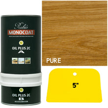 Rubio Monocoat Wood Stain Oil Plus 2C Pure (Clear) with FREE GreenSupply Application Blade