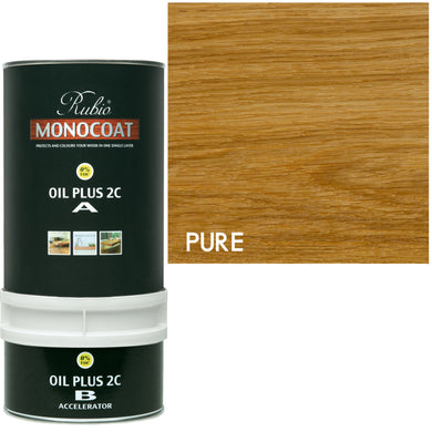 Rubio Monocoat Wood Stain Oil Plus 2C Pure (Clear) 0% VOC