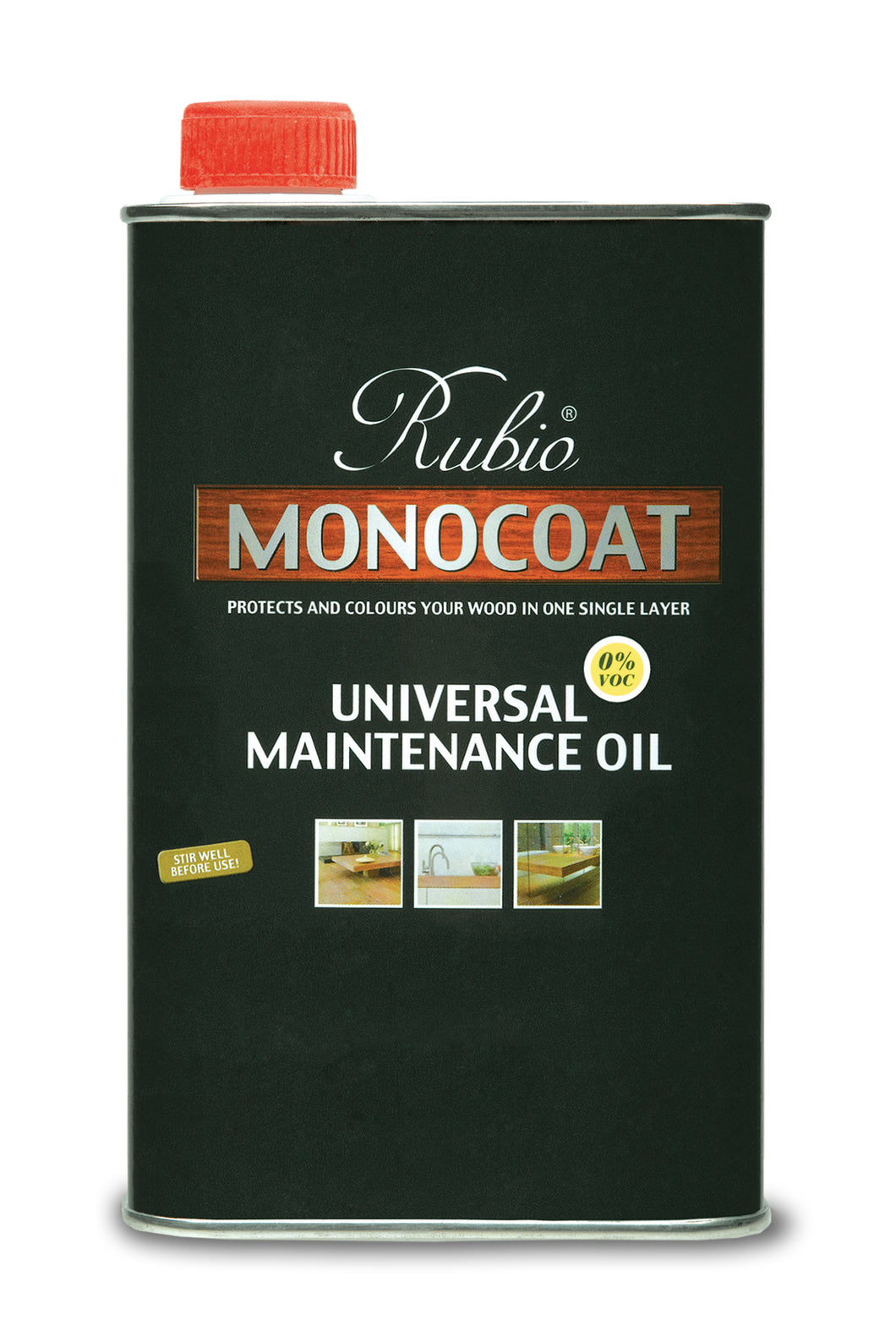 Rubio Monocoat Wood Stain Universal Maintenance Oil Black