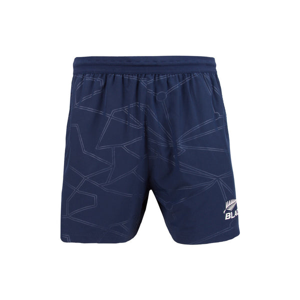 NZ BLACKCAPS Mens Replica Training Gym Shorts - Medieval Blue
