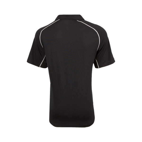 BLACKCAPS Mens Replica Media/Travel Polo Mens - Black