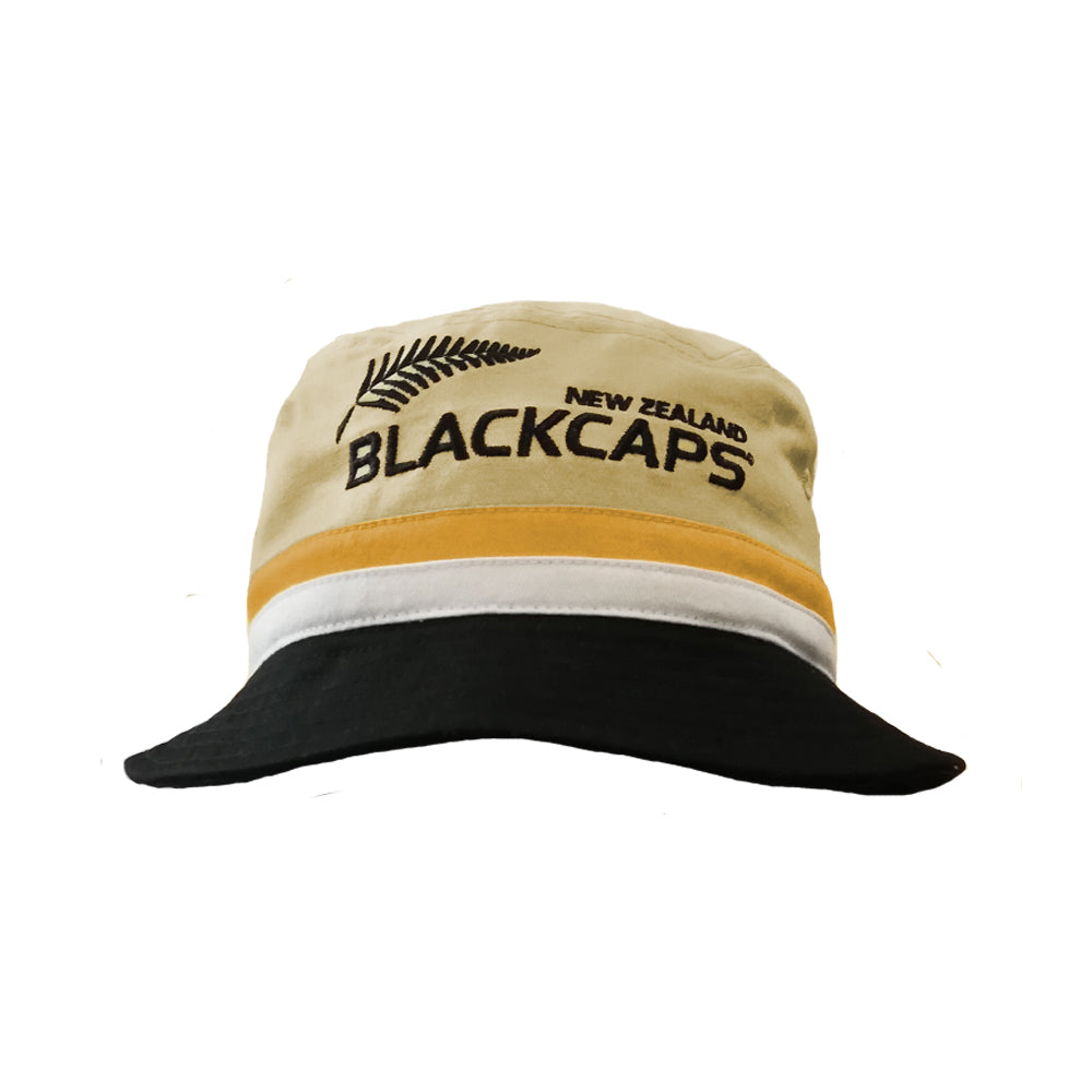 BLACKCAPS Supporters Bucket Hat (Beige/Black)