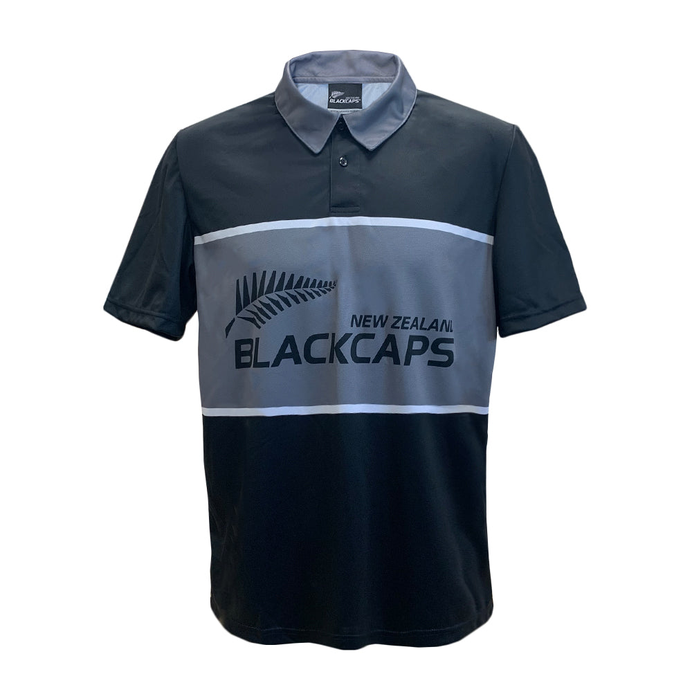 BLACKCAPS Inset Logo Polo