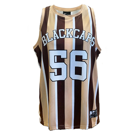 BLACKCAPS Stripe Singlet