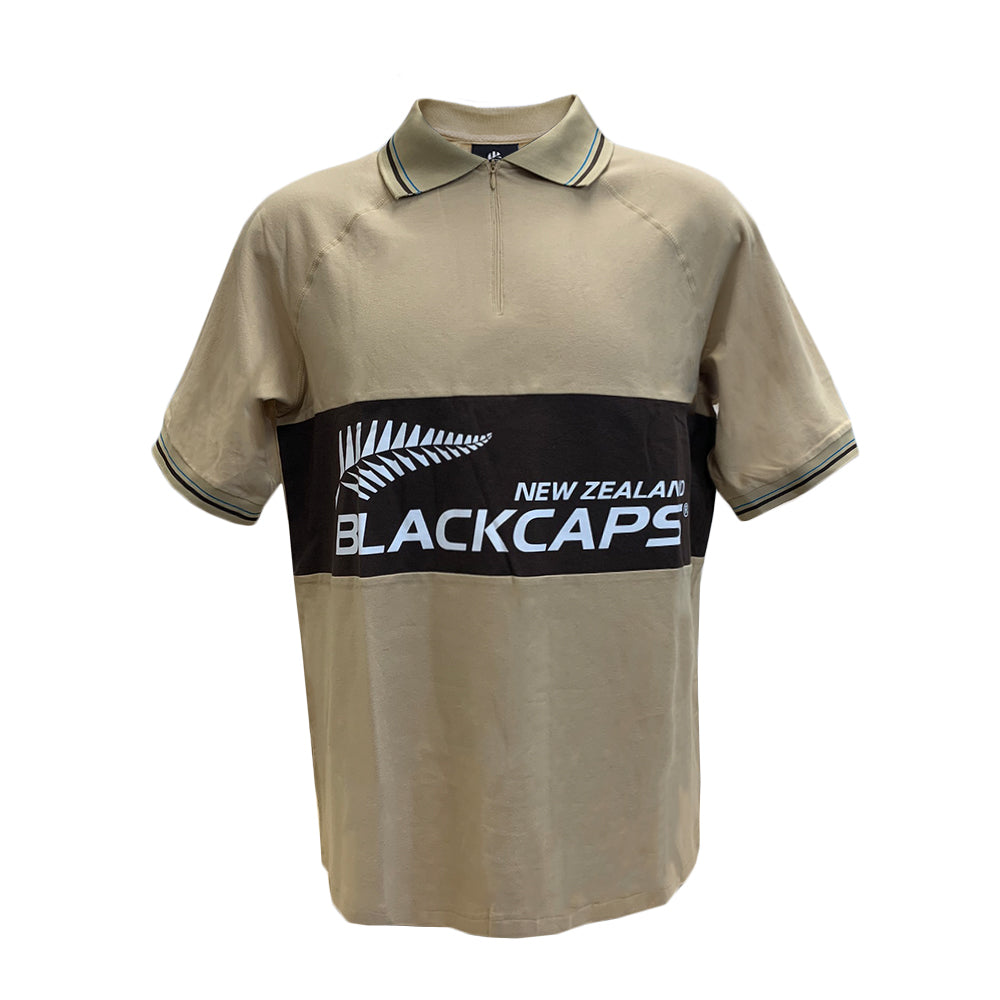 BLACKCAPS Raglan Rib Logo Polo