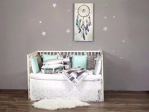 Baby Crib Bumper Tiffany Star