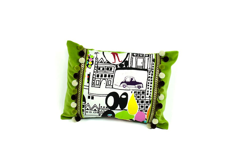 Green City Pillow Set