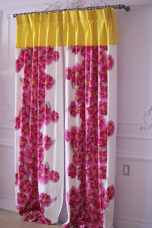 Custom Curtains Monna Flower