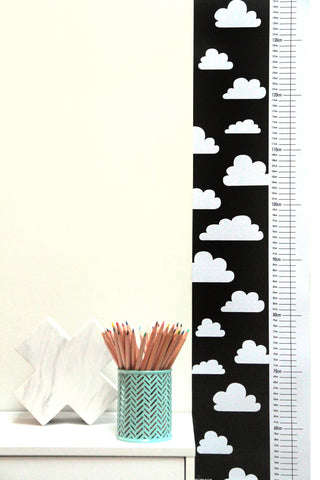 Mimosa Designs Monochrome Cloud Height Chart
