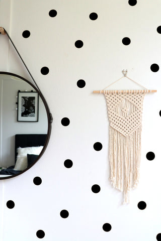 Mimosa Polka Dot Wall Stickers (Black and Gold)