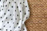 Mimosa Monochrome Muslin Wraps – 100% cotton - Mimosa Designs