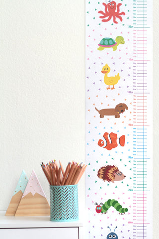 Colourful animal wall chart perfect for a nursery or child's room