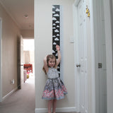 2 metre tall removable wall height chart